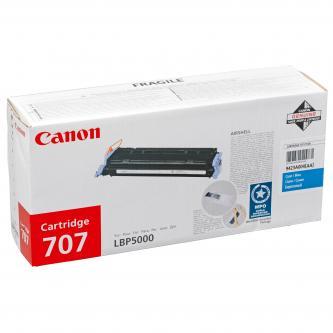Canon originál toner CRG707, cyan, 2000s, 9423A004, Canon LBP-5000
