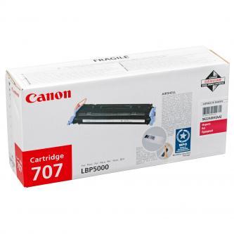 Canon originál toner CRG707, magenta, 2000s, 9422A004, Canon LBP-5000