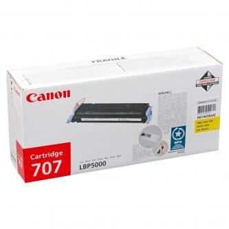 Canon originál toner CRG707, yellow, 2000s, 9421A004, Canon LBP-5000