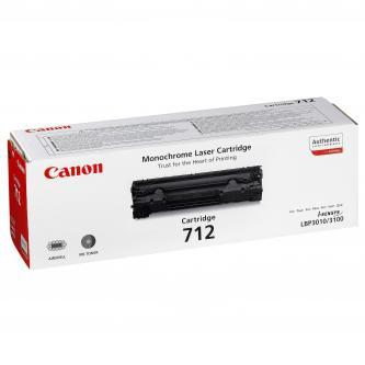 Canon originál toner CRG712, black, 1500s, 1870B002, Canon LBP-3100