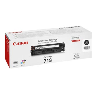 Canon originál toner CRG718, black, 6800s, 2662B011, 2662B005, Canon LBP-7200Cdn