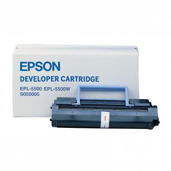 Epson originál toner C13S050005, black, 6000s, Epson EPL-5500, 5500W, 5500+