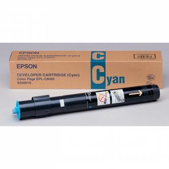 Epson originál toner C13S050018, cyan, 6000s, Epson EPL-C8000, 8200, PS