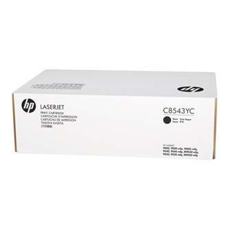 HP originál toner C8543YC, black, 30000s, HP LaserJet 9000, 9040, 9050, N, DN, m