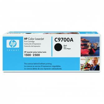 HP originál toner C9700A, black, 5000s, 121A, HP Color LaserJet 1500, L, 2500, N