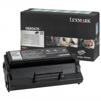 Lexmark originál toner 08A0478, black, 6000s, return, Lexmark E320, 322