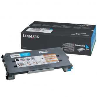 Lexmark originál toner C500H2CG, cyan, 3000s, return, Lexmark C500, X500