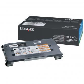 Lexmark originál toner C500H2KG, black, 5000s, return, Lexmark C500, X500