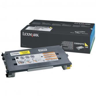Lexmark originál toner C500H2YG, yellow, 3000s, return, Lexmark C500, X500