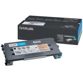 Lexmark originál toner C500S2CG, cyan, 1500s, return, Lexmark C500