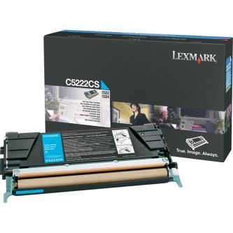 Lexmark originál toner C5222CS, cyan, 3000s, Lexmark C52x, C53x