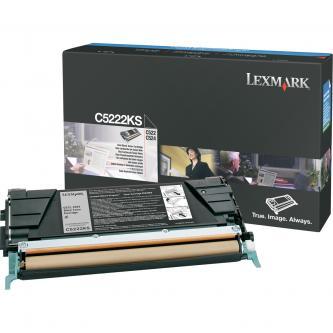 Lexmark originál toner C5222KS, black, 4000s, Lexmark C52x, C53x