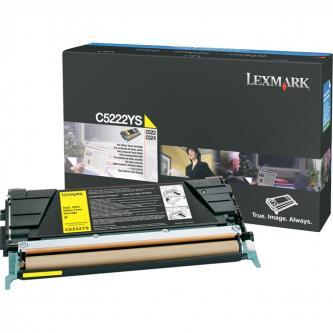 Lexmark originál toner C5222YS, yellow, 3000s, Lexmark C52x, C53x