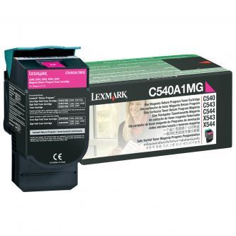 Lexmark originál toner C540A1MG, magenta, 1000s, Lexmark C540, X543, X544, X543,