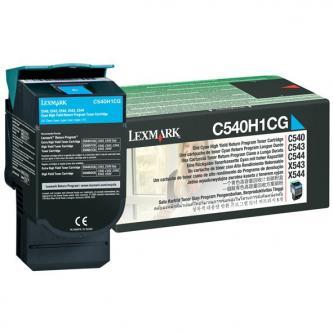 Lexmark originál toner C540H1CG, cyan, 2000s, return, high capacity, Lexmark C54