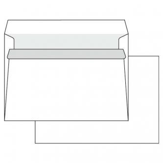 Obálka samolepiaca, C5, 162 x 229mm, biela, 1000ks, Krpa, poštová