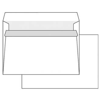 Obálka samolepiaca, C5, 162 x 229mm, biela, 50ks, Krpa, poštová