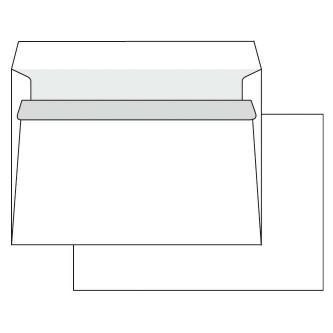Obálka samolepiaca, C6, 114 x 162mm, biela, 1000ks, Krpa, poštová