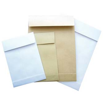 Obchodná taška samolepiaca, B4, 250 x 353mm, biela, 25ks, Krpa