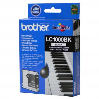 Brother originál ink LC-1000BK, black, 500s, Brother DCP-130C, 330C, 540CN, 350C, MFC-440CN, 465CN, 546