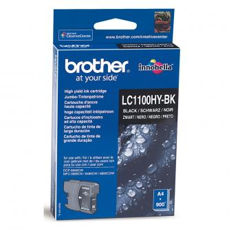 Brother originál ink LC-1100HYBK, black, 900s, high capacity, Brother DCP-6690CW, MFC-6490CW