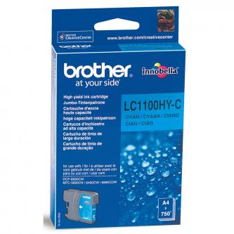 Brother originál ink LC-1100HYC, cyan, 750s, high capacity, Brother DCP-6690CW, MFC-6490CW