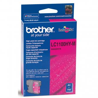Brother originál ink LC-1100HYM, magenta, 750s, high capacity, Brother DCP-6690CW, MFC-6490CW