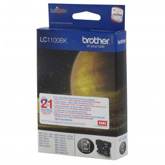 Brother originál ink LC-1100BK, black, 500s, Brother DCP-6690CW, MFC-6490CW