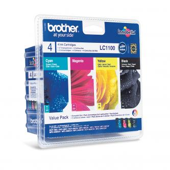 Brother originál ink LC-1100VALBP, CMYK, 450/3x325s, Brother DCP-385C, 585CW, MFC-490CW