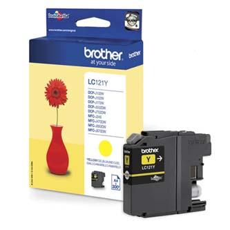 Brother originál ink LC-121Y, yellow, 300str., Brother DCP-J552DW, MFC-J470DW