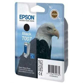 Epson originál ink C13T007401, black, 540s, 16ml, Epson Stylus Photo 870, 875D, 790, 890, 895, 1270, 1290