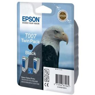 Epson originál ink C13T007402, black, 1080s, 32ml, 2ks, Epson Stylus Photo 870, 875D, 790, 890, 895, 1270, 1290