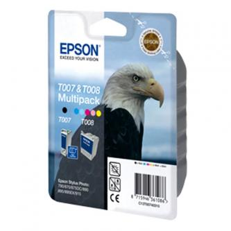 Epson originál ink C13T00740310, black/color, Epson Stylus Photo 870, 875DC, 790, 890, 895, 915