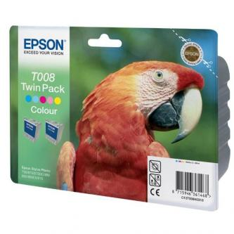 Epson originál ink C13T008403, color, 440s, 2x92ml, 2ks, Epson Stylus Photo 870, 875DC, 890, 895, 780, 790