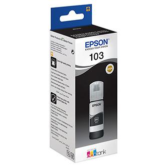 Epson originál ink C13T00S14A, 103, black, 65ml, Epson EcoTank L3151, L3150, L3111, L3110