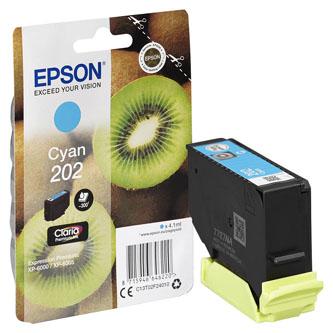 Epson originál ink C13T02F24010, 202, cyan, 1x4.1ml, Epson XP-6000, XP-6005