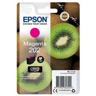 Epson originál ink C13T02F34010, 202, magenta, 1x4.1ml, Epson XP-6000, XP-6005