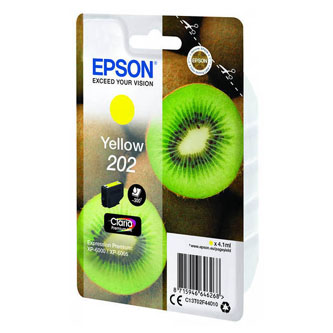 Epson originál ink C13T02F44010, 202, yellow, 1x4.1ml, Epson XP-6000, XP-6005