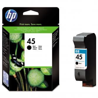 HP originál ink 51645AE, No.45, black, 930s, 42ml, HP DeskJet 850, 970Cxi, 1100, 1200, 1600, 6122, 6127