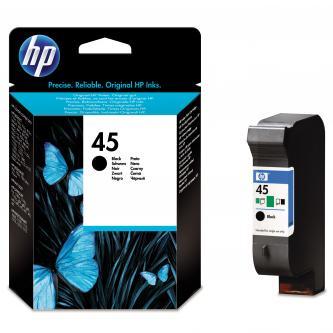HP originál ink 51645GE, No.45, black, 21ml, HP DeskJet 850, 970Cxi, 1100, 1200, 1600, 6122, 6127