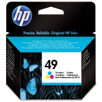 HP originál ink 51649AE, No.49, color, 350s, 22,8ml, HP DeskJet 350, 610, 640, 660, 690, 890, OJ-500, 700