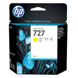 HP originál ink B3P15A, No.727, yellow, 40ml, HP DesignJet T1500, T2500, T920