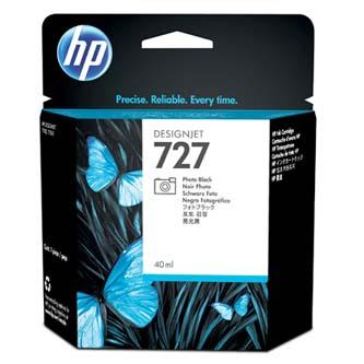 HP originál ink B3P17A, No.727, photo black, 40ml, HP DesignJet T1500, T2500, T920