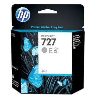 HP originál ink B3P18A, No.727, gray, 40ml, HP DesignJet T1500, T2500, T920