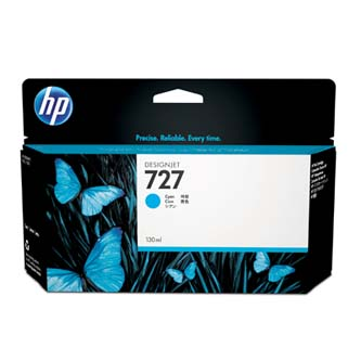 HP originál ink B3P19AE, No.727, cyan, 130ml, HP DesignJet T1500, T2500, T920