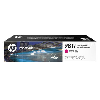 HP originál ink L0R14A, HP 981Y, magenta, 16000str., 185ml, extra high capacity, HP PageWide MFP E58650, 556, Flow 586