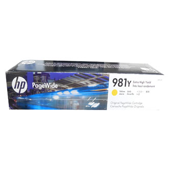 HP originál ink L0R15A, HP 981Y, yellow, 16000str., 185ml, extra high capacity, HP PageWide MFP E58650, 556, Flow 586