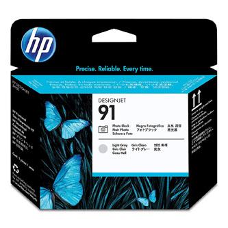 HP originál tlačová hlava P2V38A, HP 91, Photo Black/Light Gray, 775ml, HP