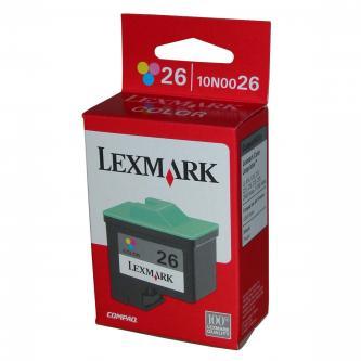 Lexmark originál ink 10N0026E, #26, color, 275s, Lexmark Z33, Z13, Z25, Z35