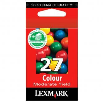 Lexmark originál ink 10NX227E, #27+, color, 160s, Lexmark Z13, Z23, Z33, Z25, Z35